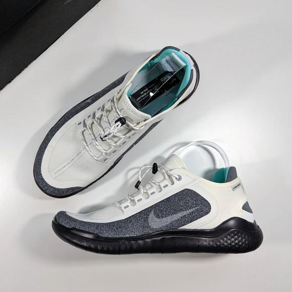 Nike Free RN 2018 Shield Summit WhiteWolf Grey NWT